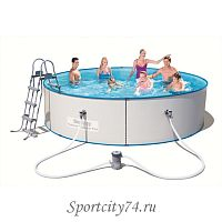 Стальной бассейн BestWay Hydrium Splasher Pool Set 56377